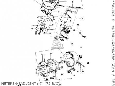 Kawasaki G5-b 1974 Canada Meters headlight 74-75 B c