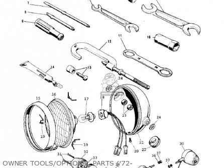 Kawasaki G5-b 1974 Canada Owner Tools optional Parts 72-