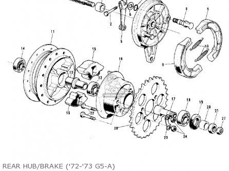 Kawasaki G5-b 1974 Canada Rear Hub brake 72-73 G5-a