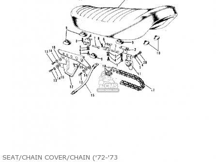 Kawasaki G5-b 1974 Canada Seat chain Cover chain 72-73