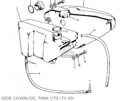 Kawasaki G5-b 1974 Canada Side Cover oil Tank 72-73 G5-