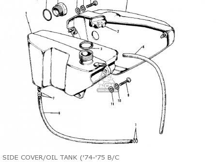 Kawasaki G5-b 1974 Canada Side Cover oil Tank 74-75 B c