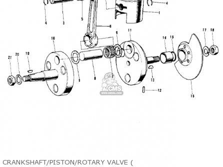 Kawasaki G5b 1974 Canada Crankshaft piston rotary Valve
