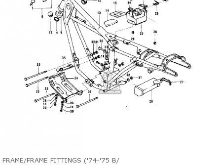 Kawasaki G5b 1974 Canada Frame frame Fittings 74-75 B