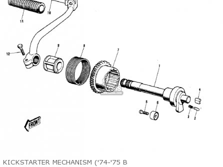 Kawasaki G5b 1974 Canada Kickstarter Mechanism 74-75 B