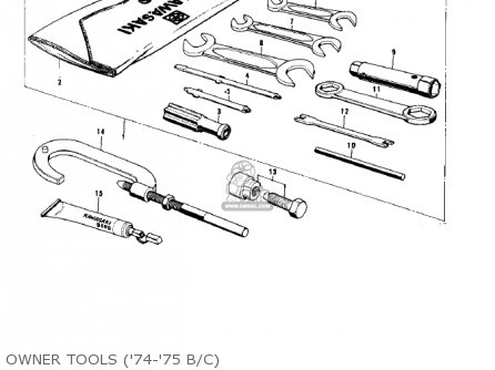 Kawasaki G5b 1974 Canada Owner Tools 74-75 B c