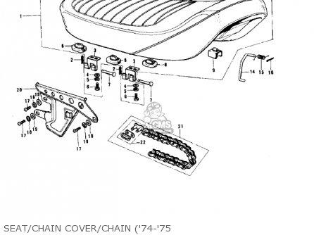 Kawasaki G5b 1974 Canada Seat chain Cover chain 74-75