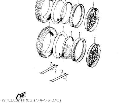 Kawasaki G5b 1974 Canada Wheels tires 74-75 B c
