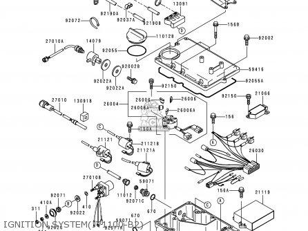 Kawasaki Jt1100 B2 Jetski1100stx 1999 Usa Canada Parts Lists And