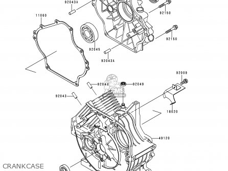 Kawasaki Kaf C Mule Usa Crankcase Mediumkae E Ca on 2007 3010 Kawasaki Mule Parts Diagram