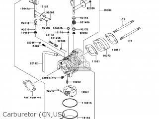 Kawasaki KAF400-AAF MULE610 2010 USA / 4X4 parts lists and schematics