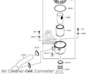 kawasaki kaf400 fef mule610 2014 usa 4x4 xc parts lists and schematics Kawasaki 400 Engine air cleaner belt converter