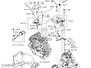 kawasaki kaf400 fef mule610 2014 usa 4x4 xc parts lists and schematics 1993 Kawasaki 400 Bayou 4x4 control