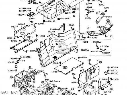Kawasaki Kaf450-b1 Mule1000 1988 Usa Battery Case