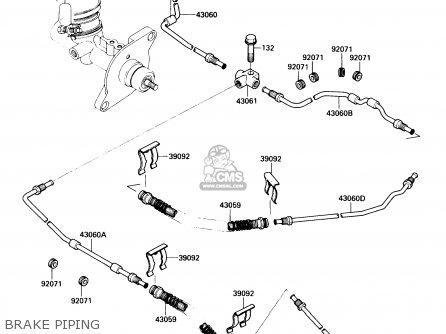 Kawasaki Kaf450-b1 Mule1000 1988 Usa Brake Piping