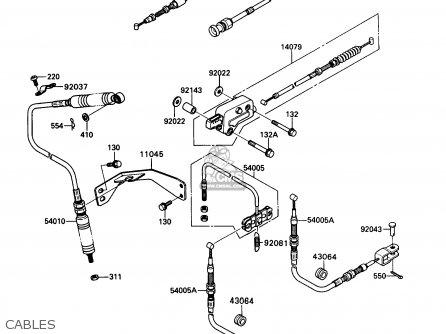 Kawasaki Kaf450-b1 Mule1000 1988 Usa Cables