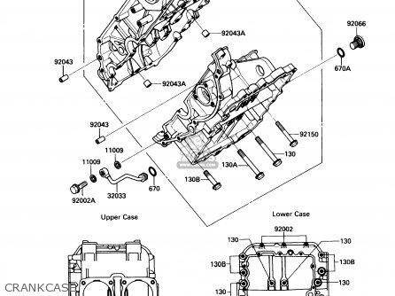 Kawasaki Kaf450-b1 Mule1000 1988 Usa Crankcase