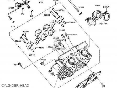 Kawasaki Kaf450-b1 Mule1000 1988 Usa Cylinder Head