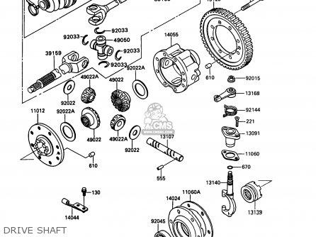 Kawasaki Kaf450-b1 Mule1000 1988 Usa Drive Shaft