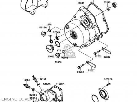 Kawasaki Kaf450-b1 Mule1000 1988 Usa Engine Covers