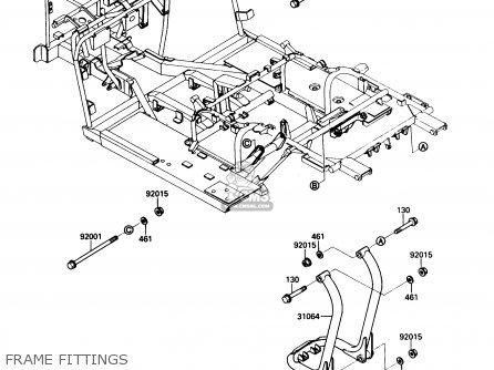 Kawasaki Kaf450-b1 Mule1000 1988 Usa Frame Fittings