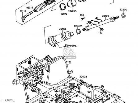 Kawasaki Kaf450-b1 Mule1000 1988 Usa Frame