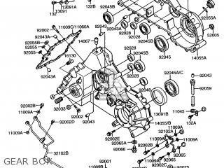 Kawasaki Kaf450-b1 Mule1000 1988 Usa Gear Box
