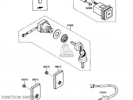 Kawasaki Kaf450-b1 Mule1000 1988 Usa Ignition Switch