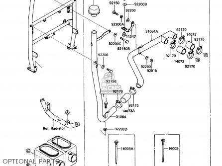 Kawasaki Kaf450-b1 Mule1000 1988 Usa Optional Parts
