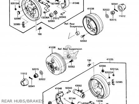 Kawasaki Kaf450-b1 Mule1000 1988 Usa Rear Hubs brakes