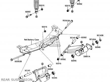 Kawasaki Kaf450-b1 Mule1000 1988 Usa Rear Suspension