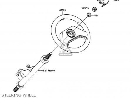 Kawasaki Kaf450-b1 Mule1000 1988 Usa Steering Wheel