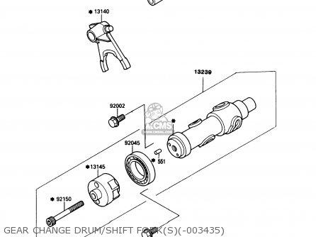 Kawasaki KAF450-B1 MULE1000 1988 USA, CANADA parts lists and