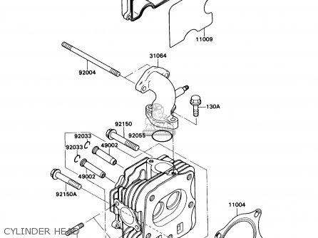 Kawasaki Kaf540c1 Mule2010 1990 Usa Parts Lists And Schematics. Cylinder Head. Kawasaki. Kaf540c Kawasaki Mule Rear Axle Diagram At Scoala.co