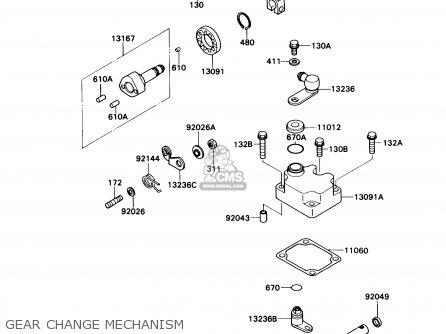 Kawasaki Kaf540c1 Mule2010 1990 Usa Parts Lists And Schematics. Kawasaki Kaf540c1 Mule2010 1990 Usa Gear Change Mechanism. Kawasaki. Kaf540c Kawasaki Mule Rear Axle Diagram At Scoala.co