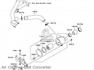 kawasaki kaf620 k8f mule3010 2008 usa trans 4x4 parts lists and 3010 Kawasaki Mule Axle Diagram air cleaner belt converter