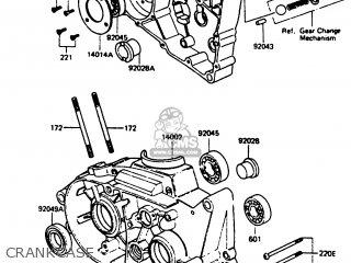 Kawasaki Kc100c5 1987 Usa Crankcase