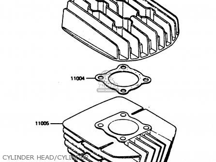 Kawasaki Kc100c5 1987 Usa Cylinder Head cylinder