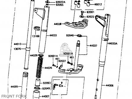 Kawasaki Kc100c5 1987 Usa Front Fork