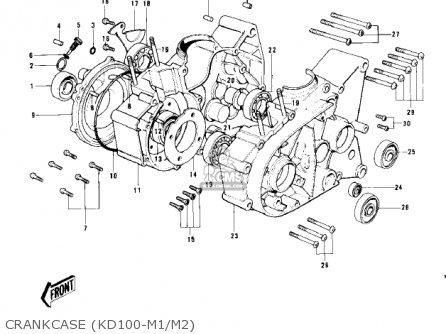 Kawasaki Kd100-m4 1979 Canada Crankcase kd100-m1 m2