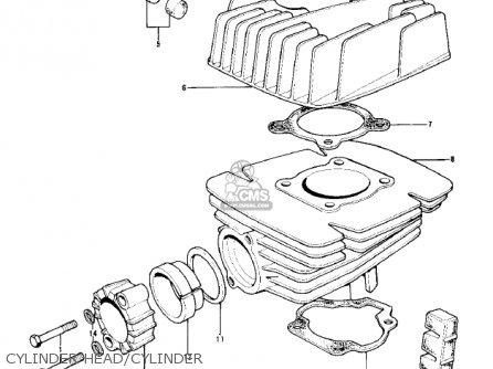 Kawasaki Kd100-m4 1979 Canada Cylinder Head cylinder