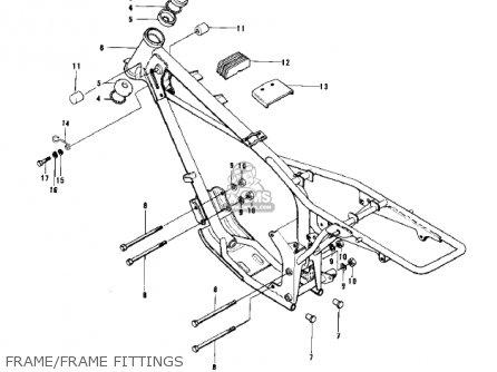 Kawasaki Kd100-m4 1979 Canada Frame frame Fittings