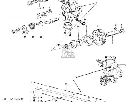 Kawasaki Kd100-m4 1979 Canada Oil Pump