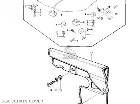 Kawasaki Kd100-m4 1979 Canada Seat chain Cover