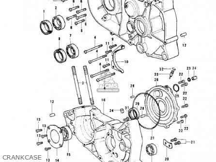 kawasaki kd125 a2 1976 usa parts lists and schematics kawasaki kd125 a2 1976 usa crankcase