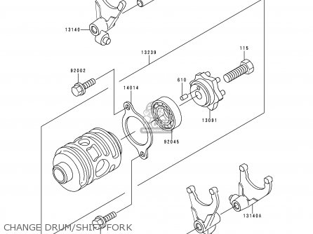 Kawasaki Kdx200 E4 1992 Usa Canada Parts Lists And Schematics
