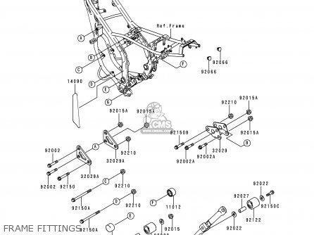 Kawasaki KDX200-H1 1995 EUROPE UK FR parts lists and ...