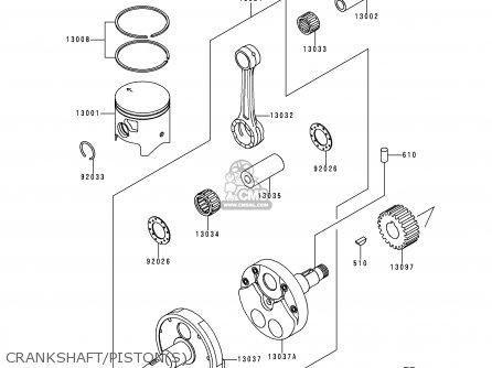 Kawasaki Kdx200 H2 1996 Usa Canada Parts Lists And Schematics