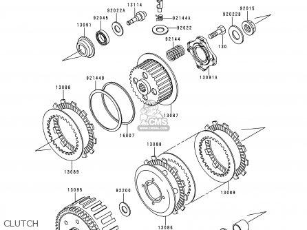 Kawasaki KDX200-H6 2000 USA parts lists and schematics on