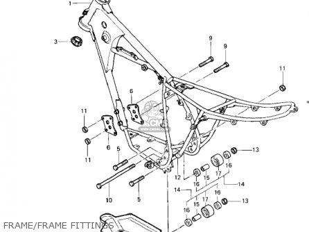 Kawasaki Kdx250 A1 Kdx250 1980 Usa California Parts Lists And Schematics